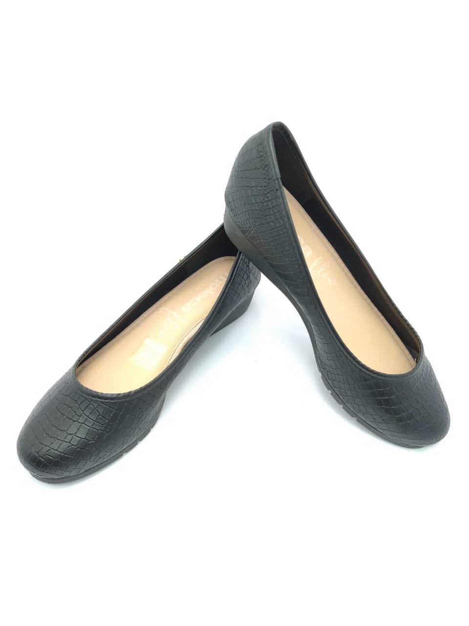 Sapato Moleca Anabela Preto