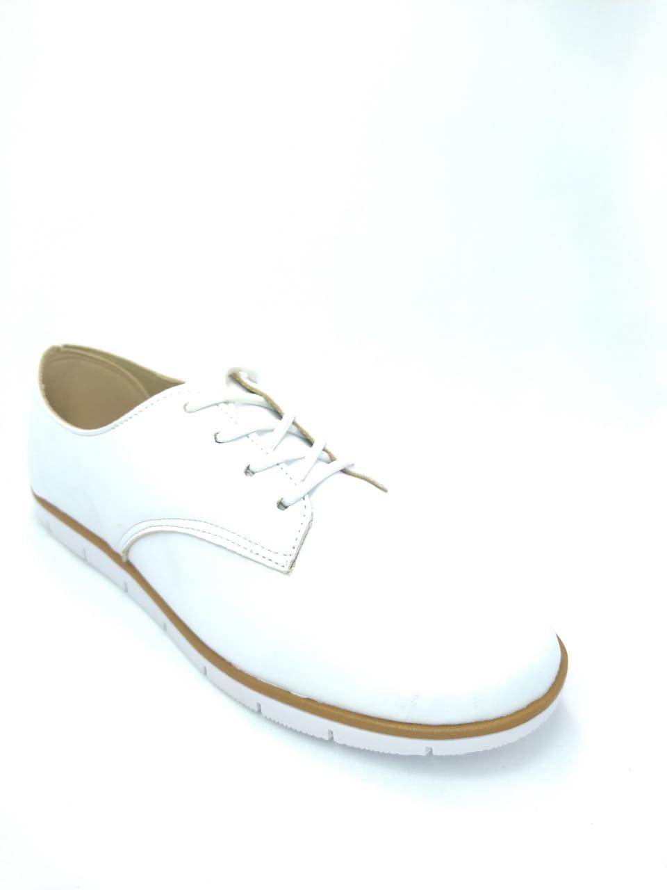 Sapato Oxford Feminino Branco