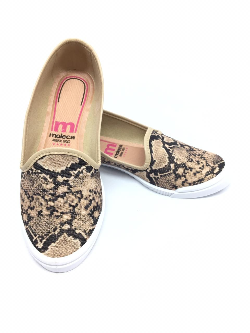 Slipper Moleca Cobra Bege