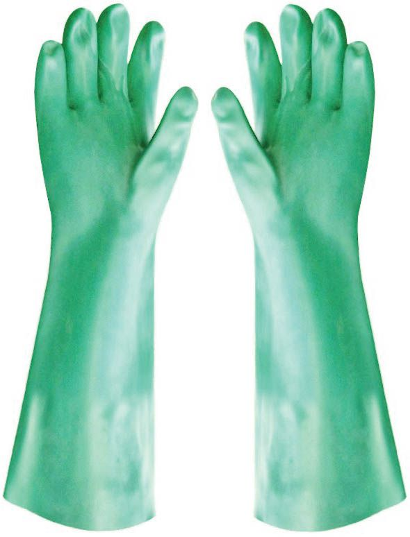 Luva em PVC Hexanol Sem Forro 35 cm Handshuhe - CA 1169