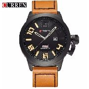 7a1c65f9c33 Relógio Curren 8270 Masculino Preto Marrom Pulseira De Couro