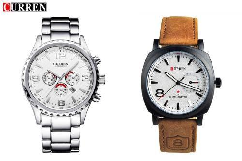 c7af794bfc5 Kit Relógio Curren 8056 Prata + Relógio Curren 8139 Couro - SUPER25