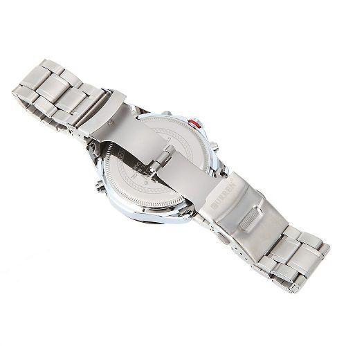 c56f238cfa2 Relógio Importado Masculino Luxo Curren 8149 Aço Fundo Preto - SUPER25