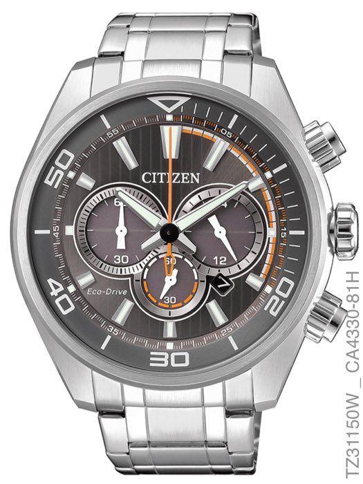 58f89231884 Relógio Masculino Citizen Eco-drive Tz31150w Aço Inoxidável Prata ...