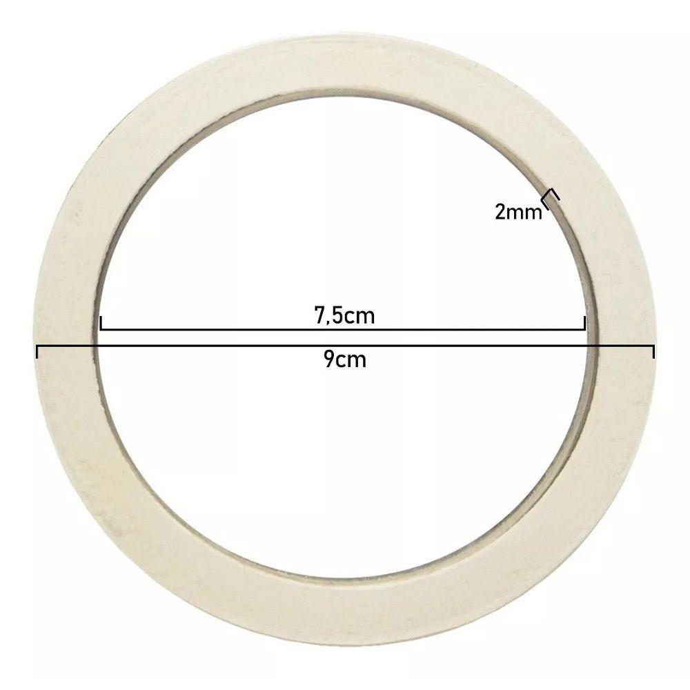 03 Filtro para Cafeteira Italiana Alumínio 12 Xícaras Café