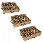 03 Sapateira Organizador Flexível de Chão em TNT 12 Nichos
