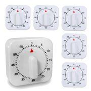 06 Temporizador Timer de Cozinha Formato Relógio Manual