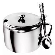 Açucareiro Inox com Colher para sua Cozinha 250ml