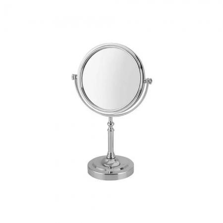 Espelho de Mesa Redondo para Maquiagem Dupla Face Amplia 3x