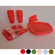 Jogo de Louça Plastico Resistente na Mesa 14 peças