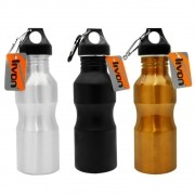 Kit 03 Squeeze Garrafa de Aluminio Mosquetão 600ml Fitness