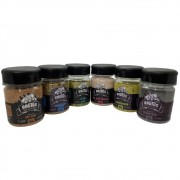 Kit 06 Temperos Brutus Chimichurri Lemon Pepper Dry Black e