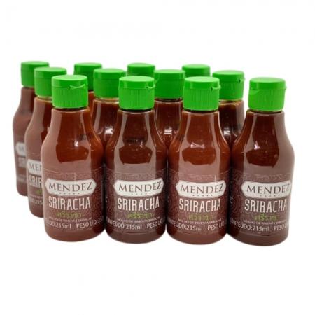 Kit Molho de Pimenta Mendez 215ml 12 Sriracha Sabor Oriental