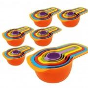 Medidores de Cozinha Xícaras Colheres Kit 06 peças x 06