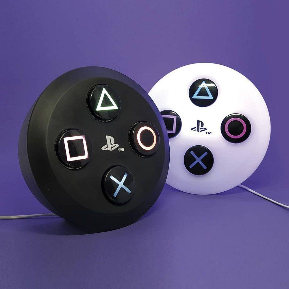 Abajur Luminária Botão PlayStation® PS4 Preto com Fio
