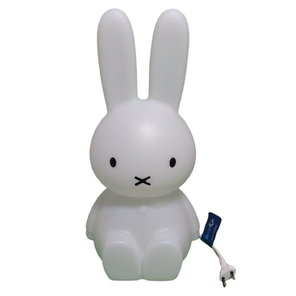 Abajur Luminária Coelha Miffy® 45cm Natural com Fio Decorfun