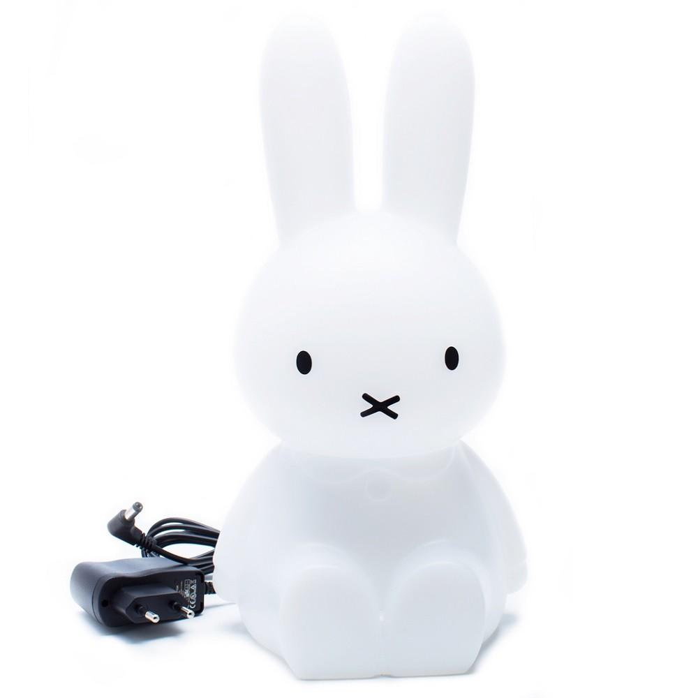 Abajur Luminária Coelha Miffy® 45cm sem Fio Led RGB Decorfun