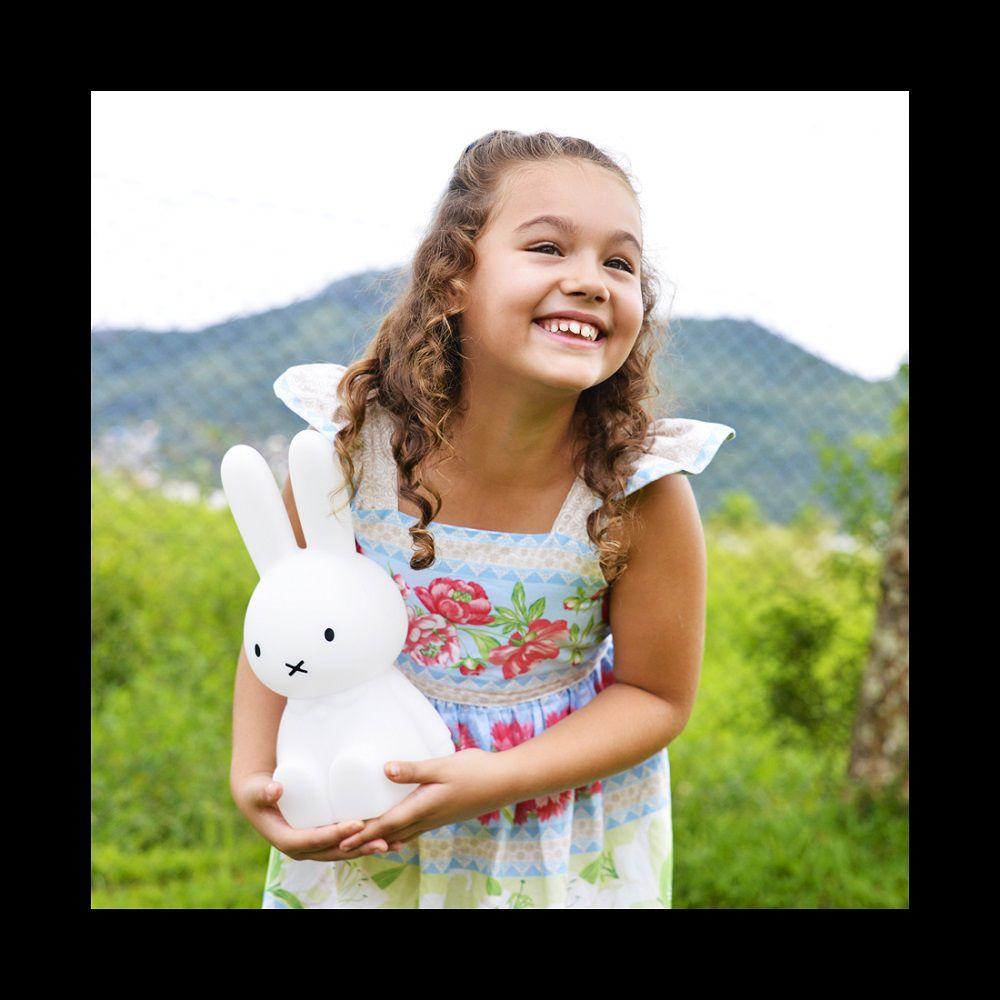 Abajur Luminária Coelha Miffy® com Fio Desenho Decorfun