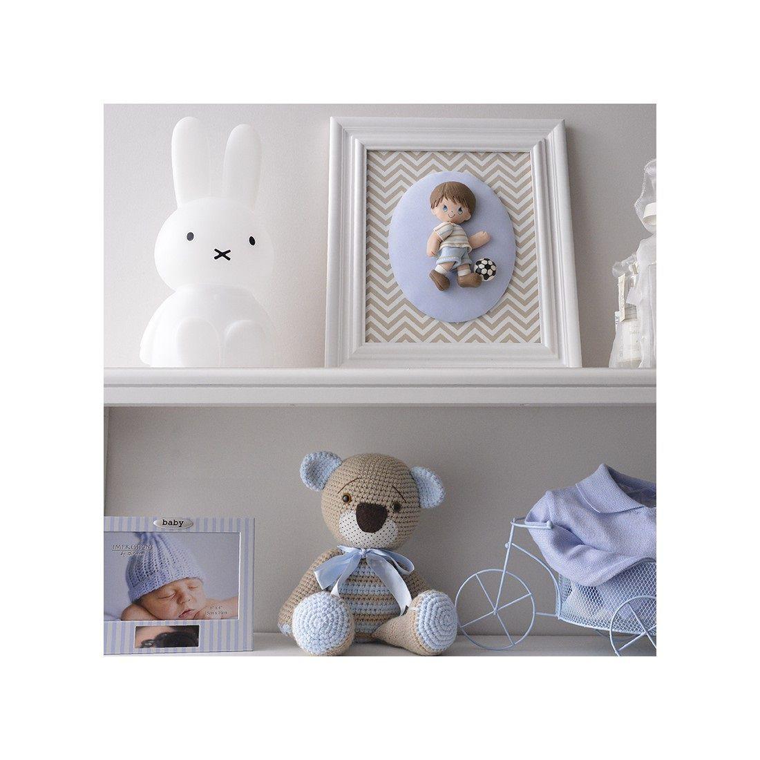 Abajur Luminária Coelha Miffy® com Fio Led RGB Decorfun