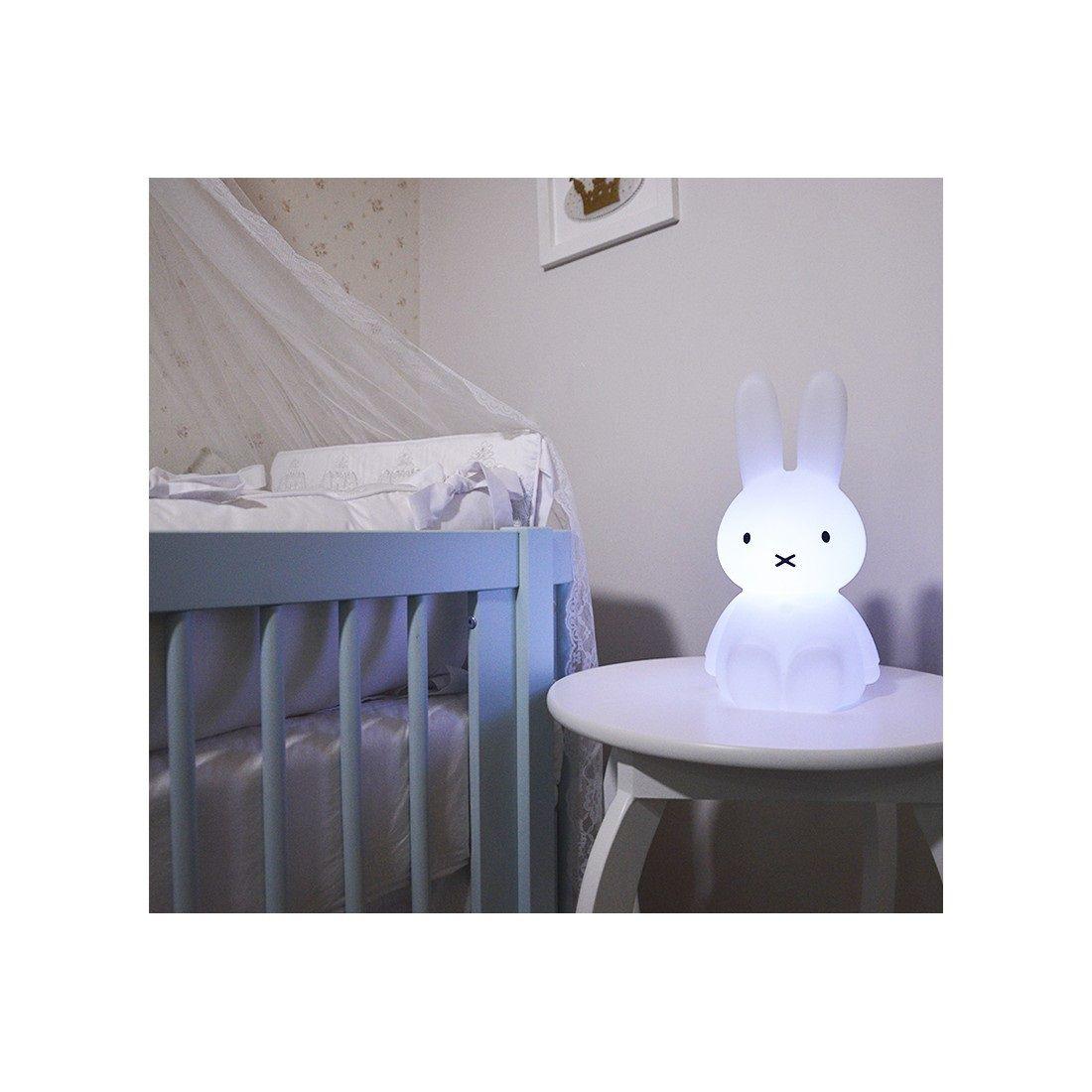 Abajur Luminária Coelha Miffy® sem Fio Led RGB Decorfun