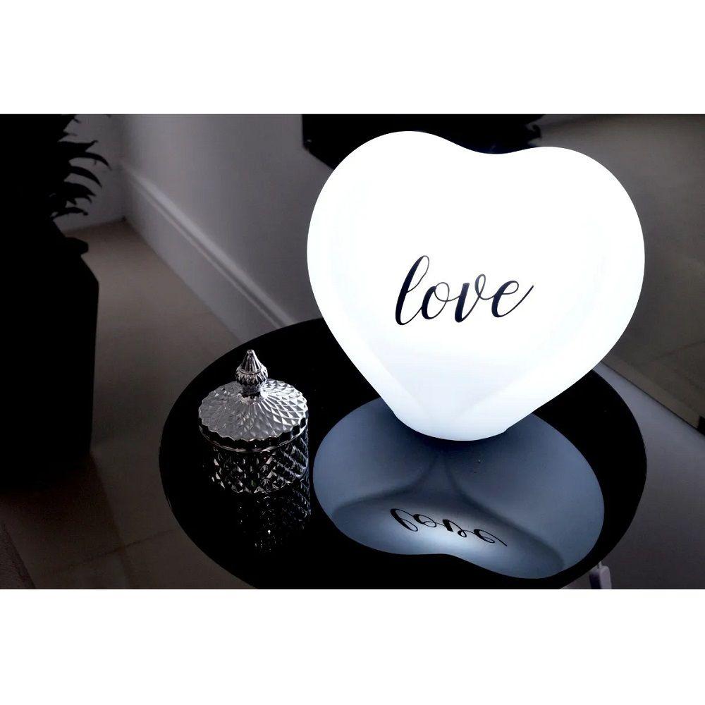 Abajur Luminária Coração Love Branco com Fio Decorfun