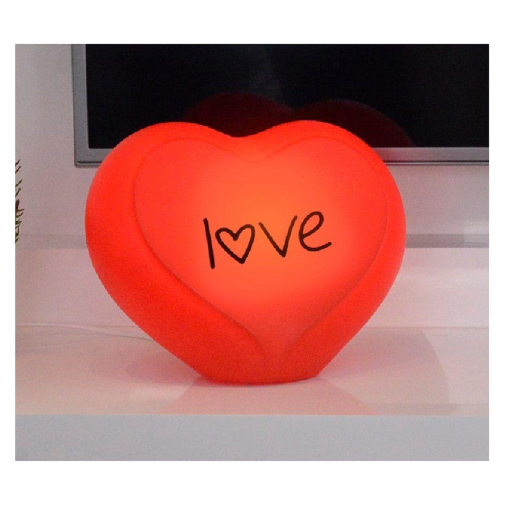 Abajur Luminária Coração Love Vermelho com Fio Decorfun