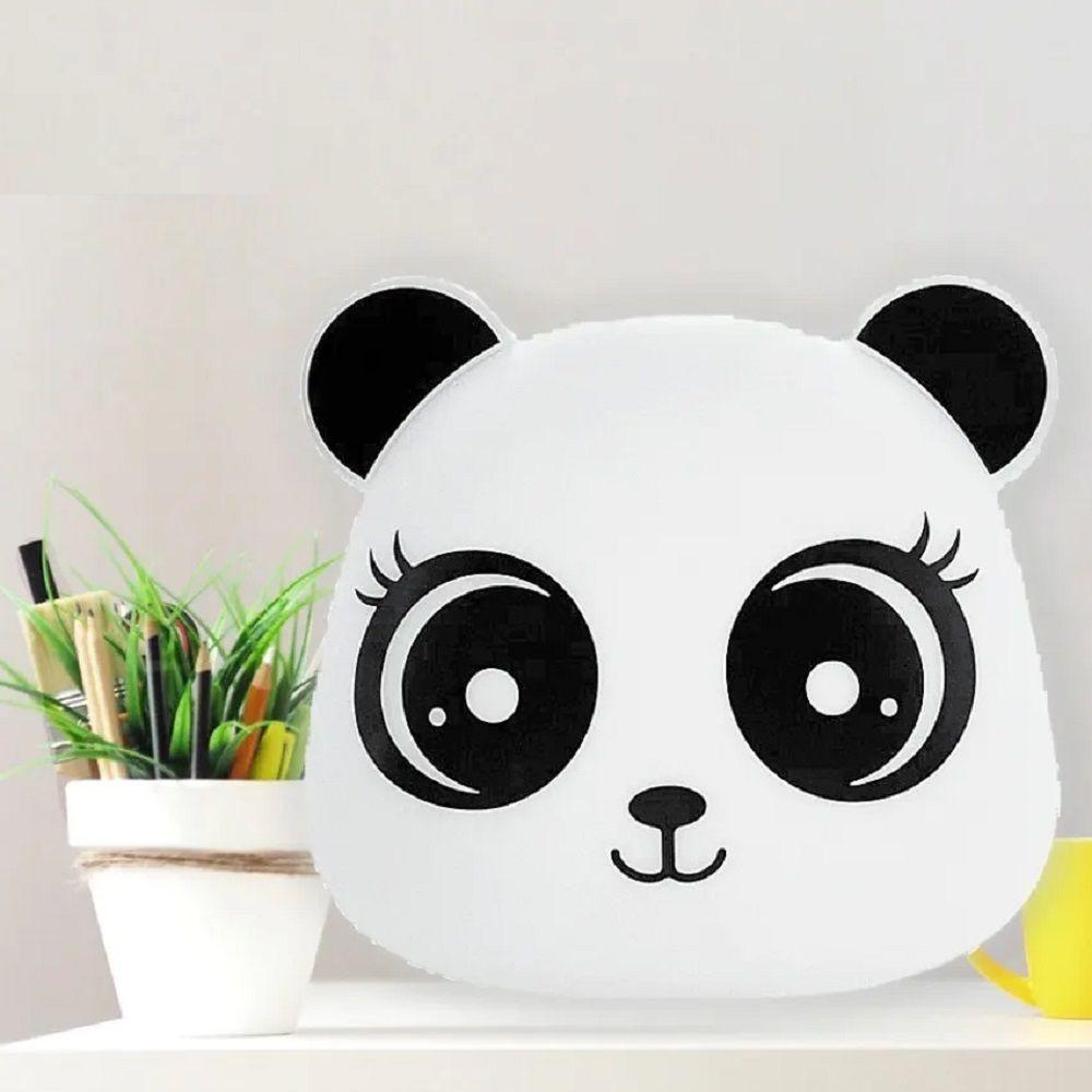 Abajur Luminária Panda Menina Led RGB com Fio Decorfun