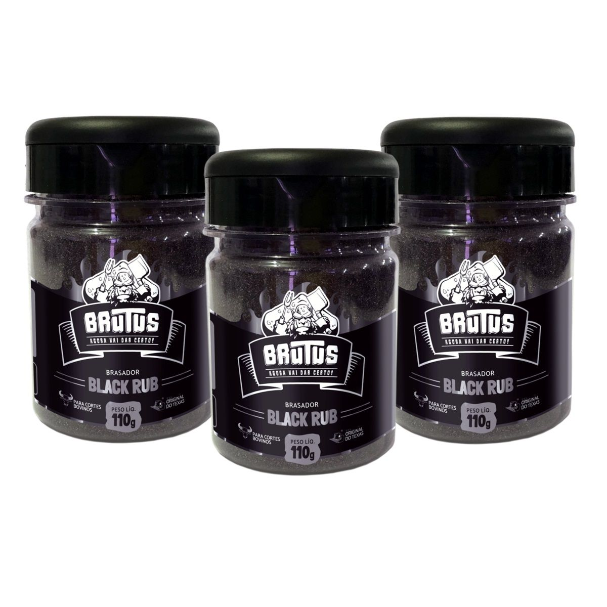 Black Rub Tempero para Bovinos Brutus 110g 03 unidades