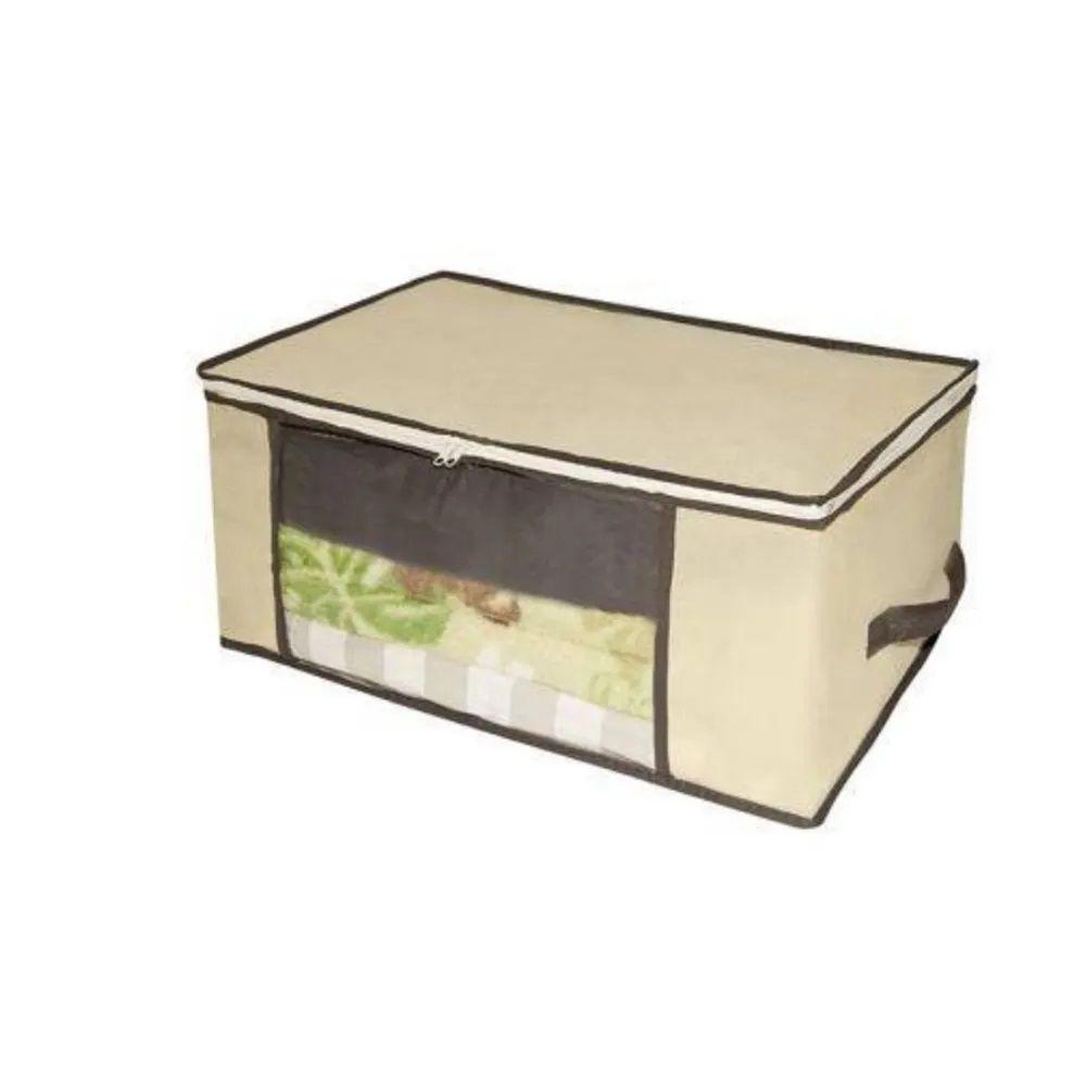 Caixa Organizadora Multiuso em TNT com Visor 45 x 45 x 20cm