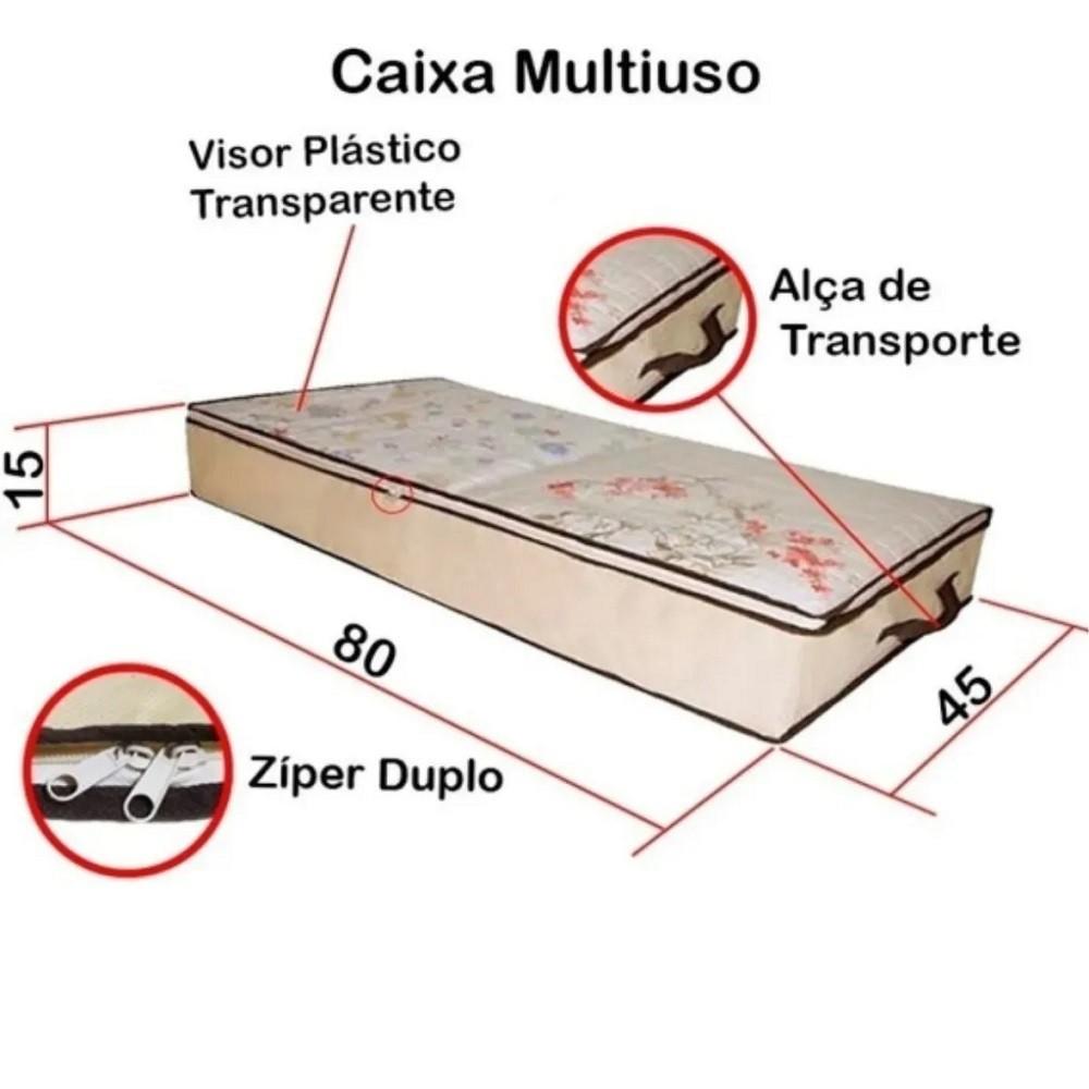 Caixa Organizadora Multiuso em TNT com Visor 80 x 45 x 15cm