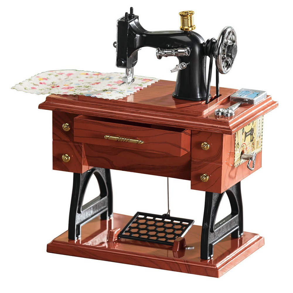 Caixinha de Musica Maquina de Costura Antiga Sartorius Model