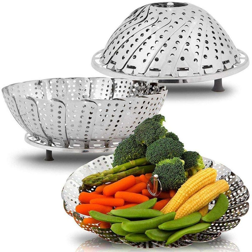 Cesto Cozimento a Vapor Inox Cozinha Legumes na Panela 22cm