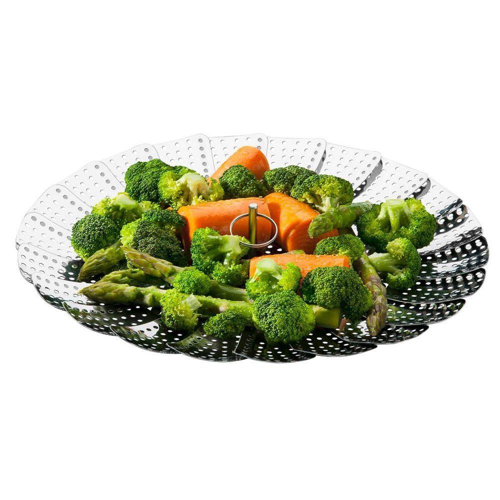 Cesto Cozimento a Vapor Inox Cozinha Legumes na Panela 24cm