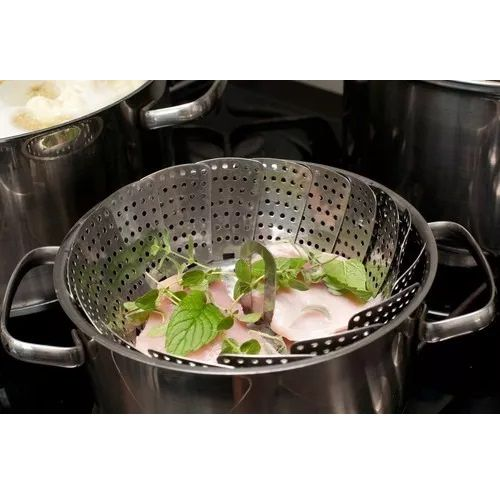 Cesto Cozimento a Vapor Inox Cozinha Legumes na Panela