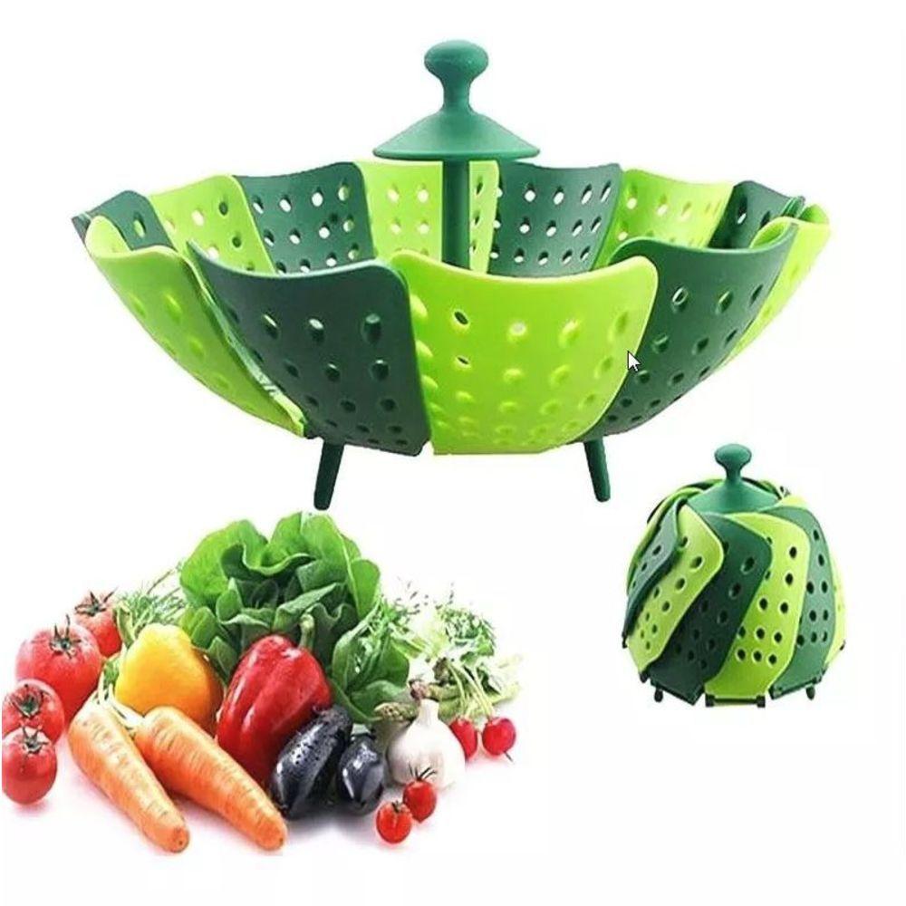 Cesto Cozimento a Vapor Nylon Cozinha Legumes Panela 25cm