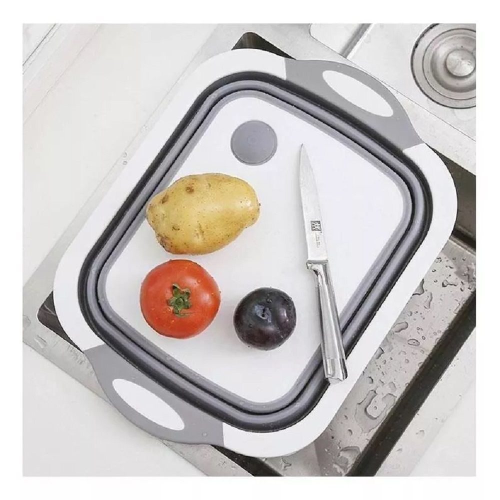 Cesto Retrátil Silicone Multifuncional Taboa Legumes Frutas