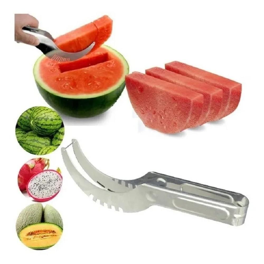 Cortador de Melancia Fatiador Pegador Aço Inox Melão Frutas