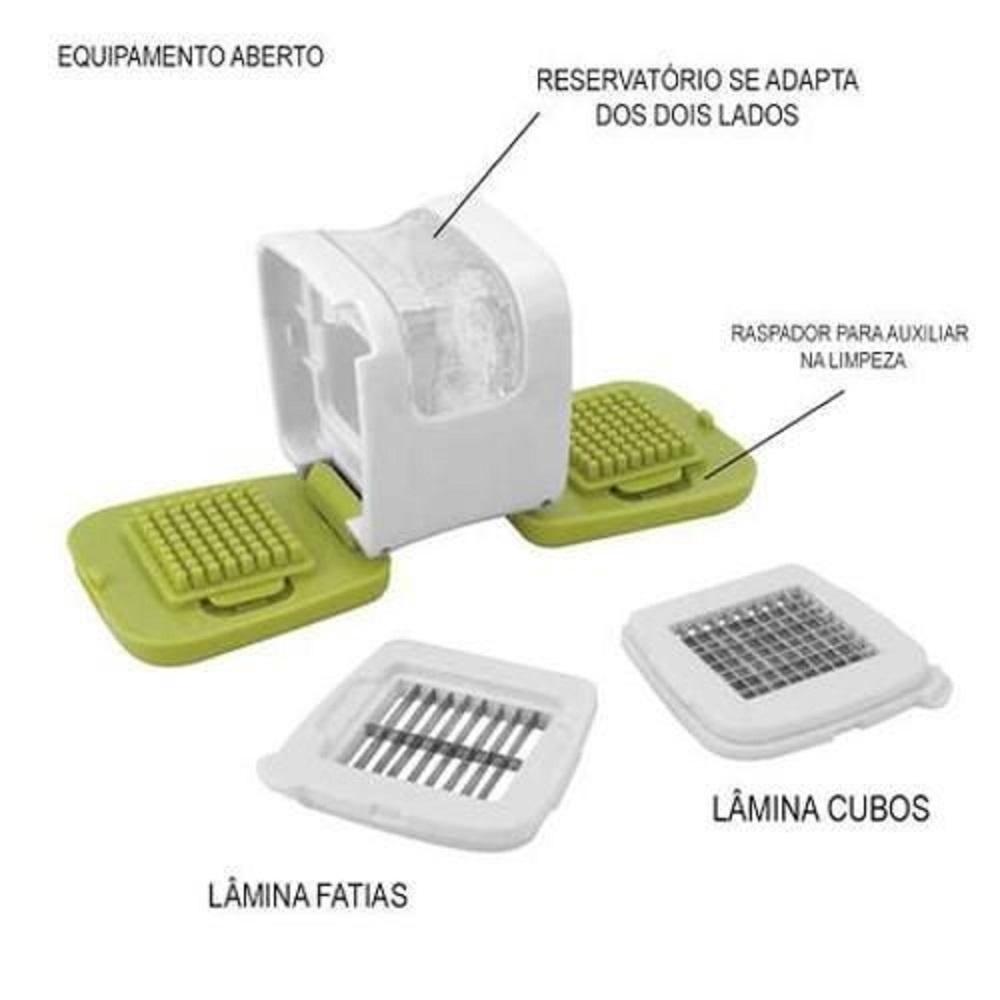 Cortador Triturador de Alho em Cubos Fatias com Reservatório