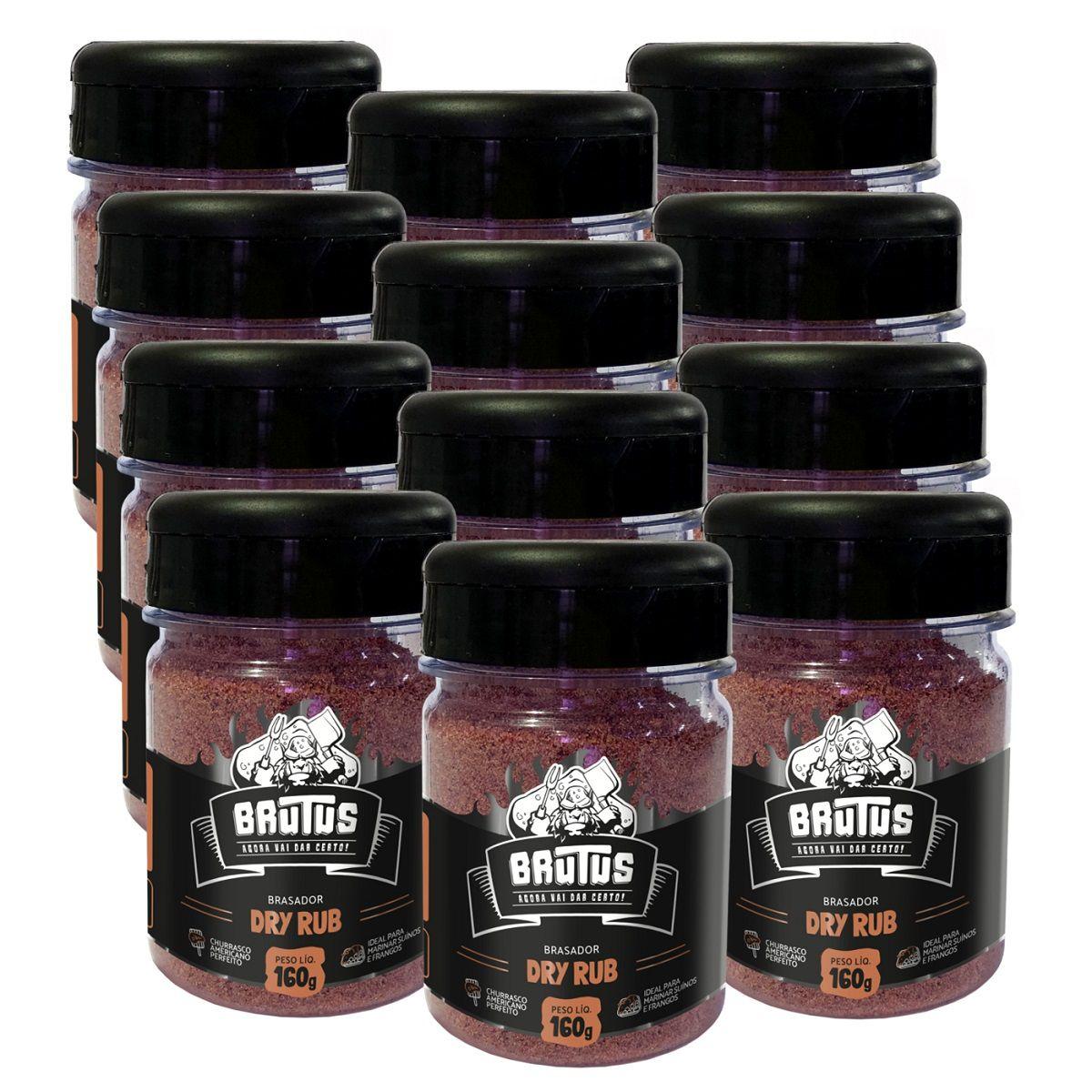 Dry Rub Tempero para Suinos e Frangos Brutus 160g 12 potes