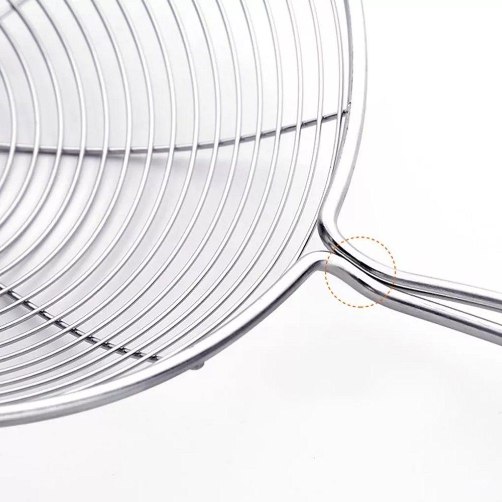 Escumadeira para Fritura em Inox Batata Pastel Aro 15cm