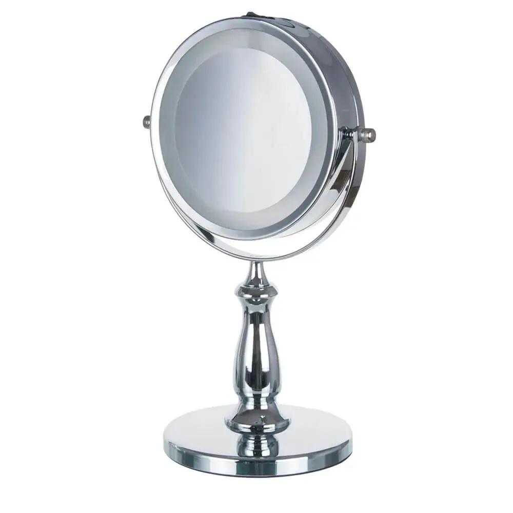 Espelho de Mesa Luz Led Dupla Face para Maquiagem Amplia 5x