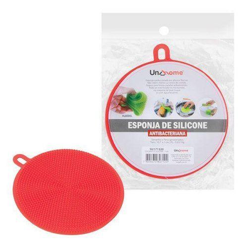 Esponja de Silicone Antibacteriana Buchinha Louça Cozinha