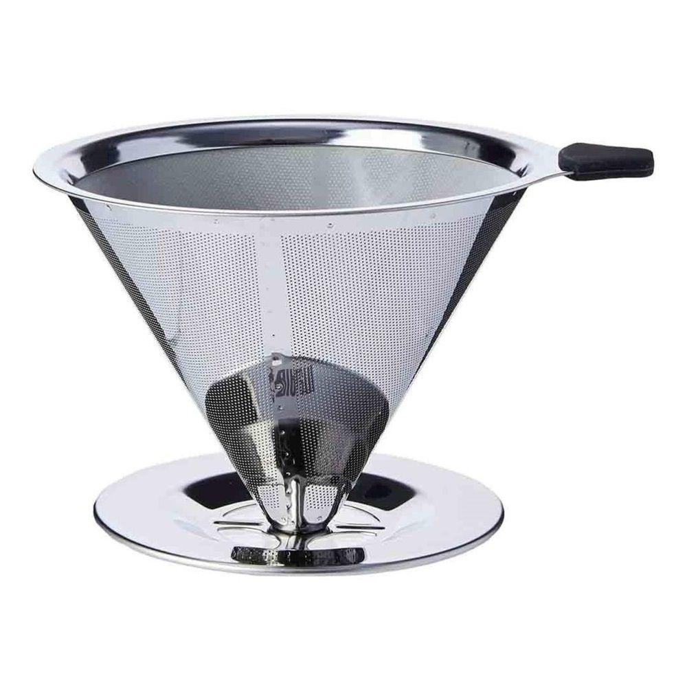 Filtro Coador de Café em Aço Inox Reutilizável Ecológico