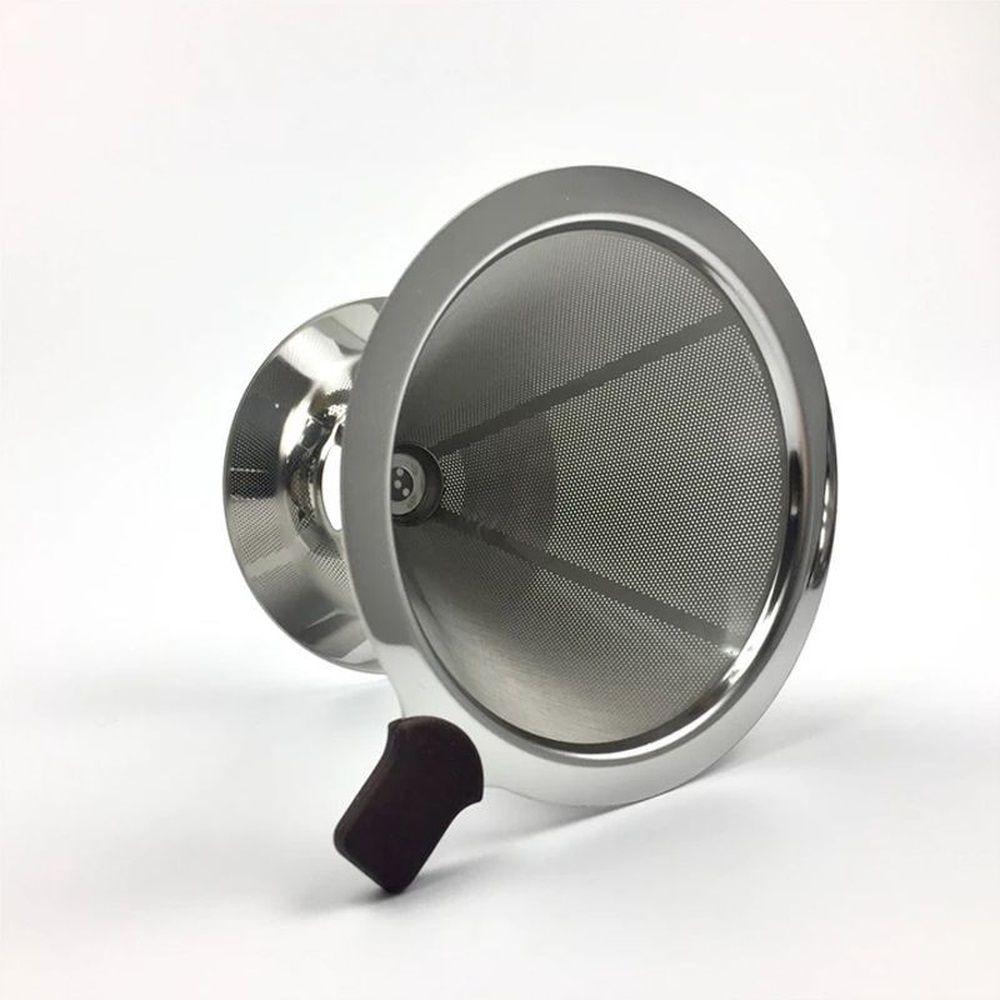 Filtro Coador de Café em Inox Reutilizável Ecológico Pequeno