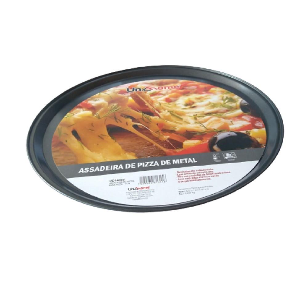 Forma Assadeira de Pizza Metal Antiaderente Redonda 32,5cm