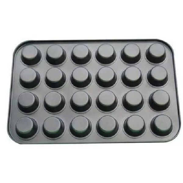 Forma para Mini CupCake 24 Cavidades Metal Antiaderente