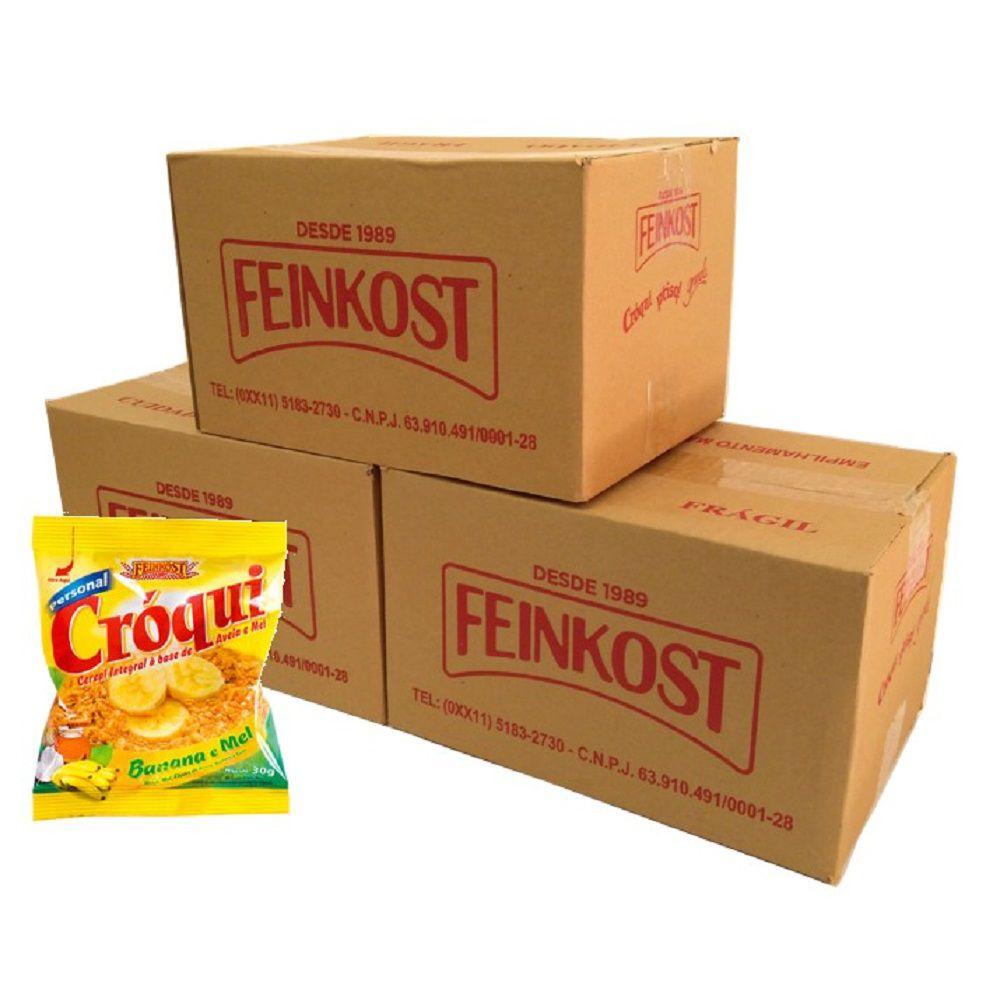 Granola Croqui Banana e Mel 30g 03 caixas de 50 saches