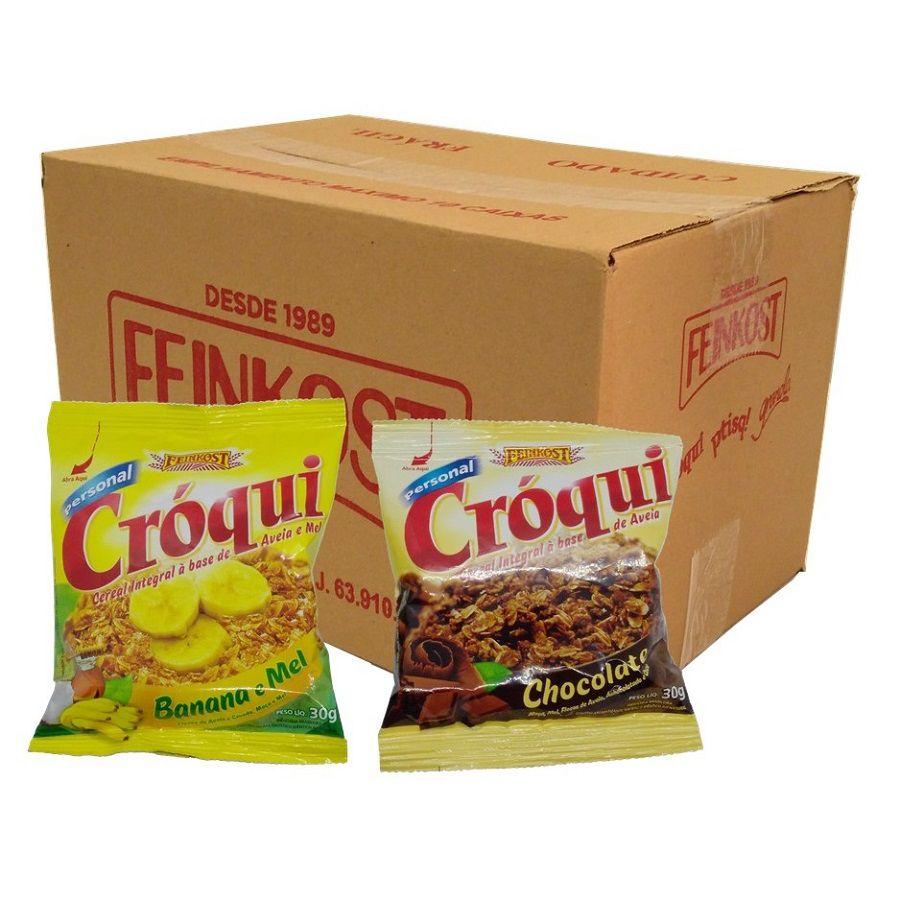 Granola Croqui Banana e Mel e Chocolate Caixa Mista 50 sache