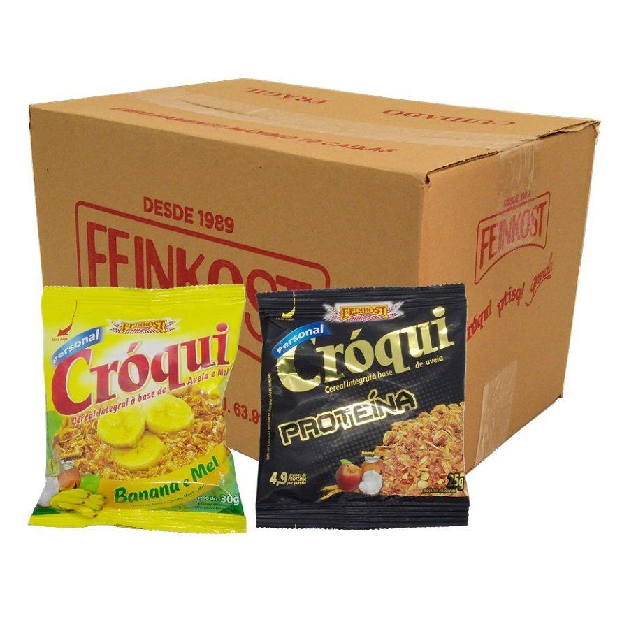 Granola Croqui Banana e Mel e Proteína Caixa Mista 50 saches
