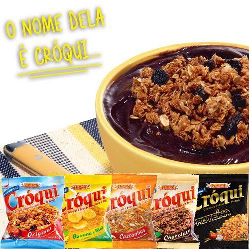 Granola Croqui Original 30g 03 caixas de 50 saches